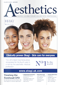 Aesthetics Journal, discussing skin damage, hyperpigmentation and advances in technology
