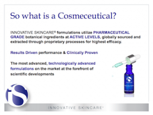 Differentiating Factors of a cosmeceutial formulation S-Thetics Beaconsfield