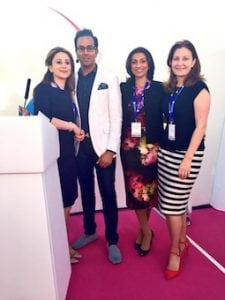Miss Sherina Balaratnam with Dr Raj Acquilla, Dr Kate Goldie and Dr Souphiyeh Samizadeh