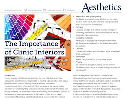 S-Thetics featured in the Aesthetics Journal discussing the importance of clinic interiors
