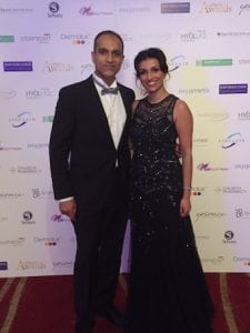 Miss Sherina Balaratnam with Dr Ganesh Balaratnam, Medical Director hVIVO