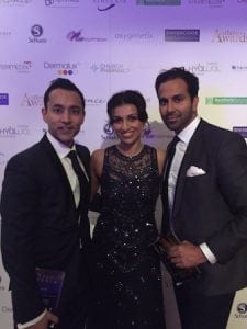 Miss Sherina Balaratnam with Dr Tapan Patel and Dr Raj Acquilla, PHI Clinic