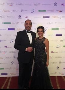 Miss Sherina Balaratnam with Mr Ash Labib, ENT Surgeon