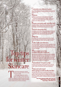 S-Thetics Beaconsfield Top Tips for Winter Skincare Riverside Journals
