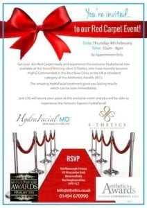 S-Thetics-Hydrafacial-Red-Carpet-Invitation-4th-February-2016