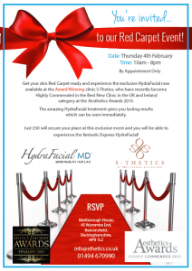 S-Thetics-Hydrafacial-Red-Carpet-launch 4th February 2016