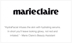 S-Thetics Hydrafacial in Marie Claire