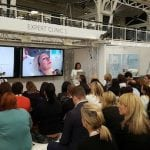 "Miss Balaratnam presenting an expert clinic on ""Natural Looking, Non-surgical Face And Eye Lifts Using Radiofrequency."""