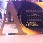 S-Thetics wins 'Reception Team of the Year, UK & Ireland' at the 2016 / 2017 Aesthetics Awards