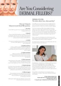 Advice if you are considering having dermal filler treatment