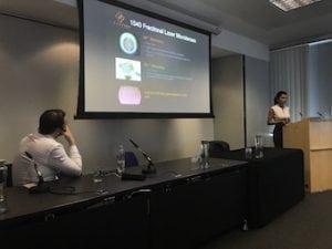 Miss Sherina Balaratnam presenting at FACE 2017 on combination laser treatments