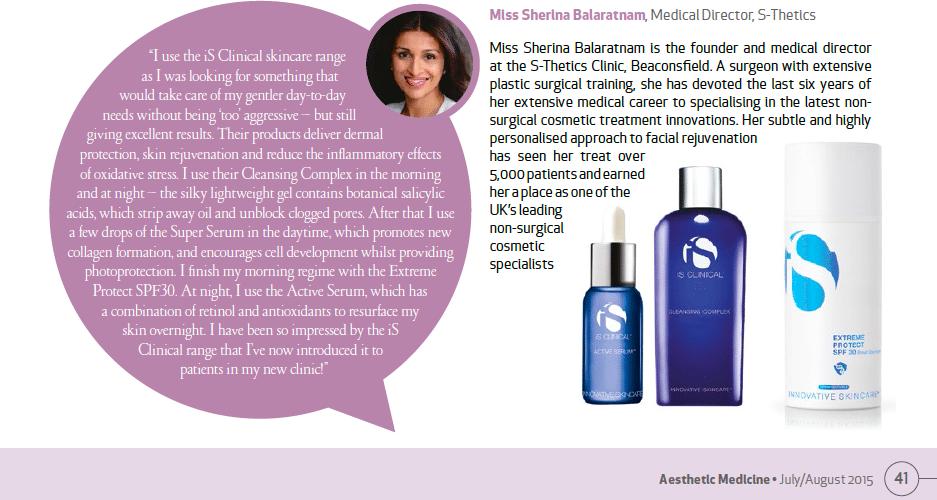Skincare Spy in Aesthetic Medicine magazine