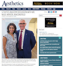 S-Thetics Featured in Aesthetics Journal Magazine