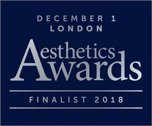 S-Thetics Clinic shortlisted as finalist for 3 awards at the 2018 Aesthetics Awards