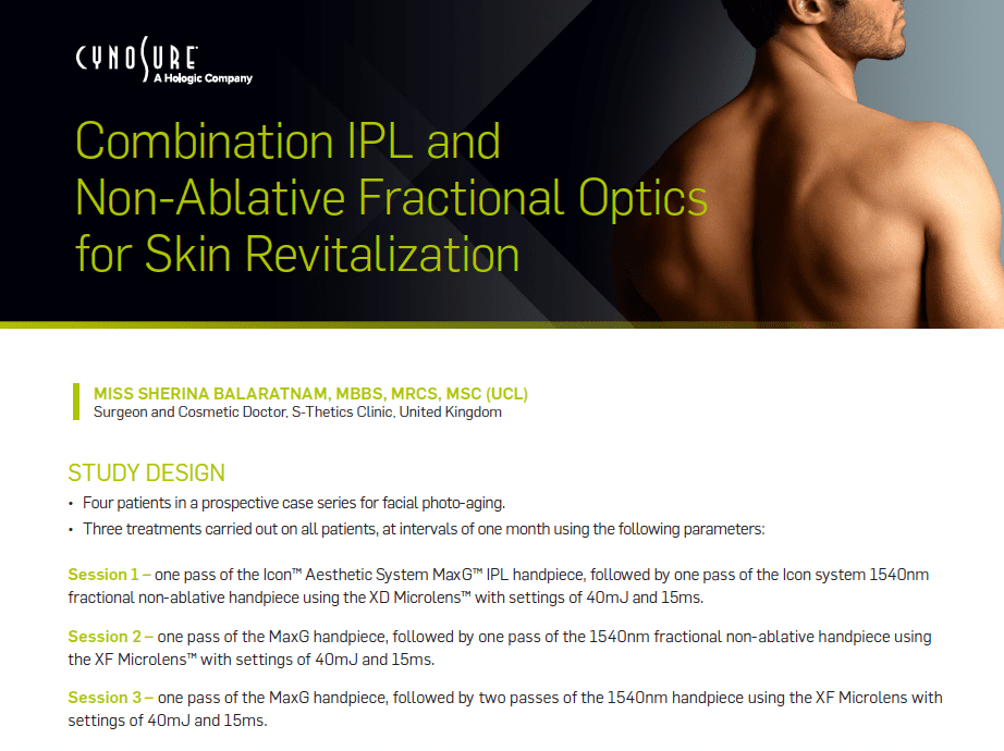 Laser Skin Treatment at S-Thetics Clinic – Icon Clinical Paper Published