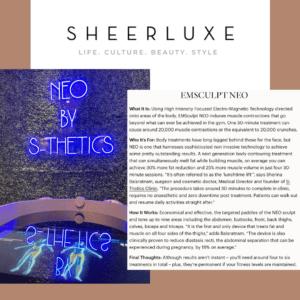 Sheerluxe.com – Expert Opinion on EMSCULPT NEO